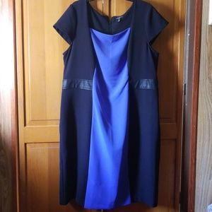 Black and Blue Colorblock Lane Bryant Dress